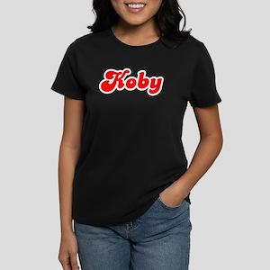 Retro Koby (Red) Women's Dark T-Shirt
