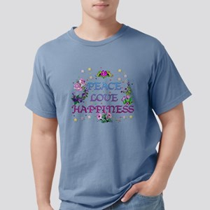 Peace Love Happiness Mens Comfort Colors Shirt