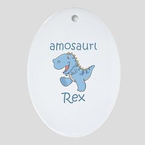 Samosaurus Rex Oval Ornament