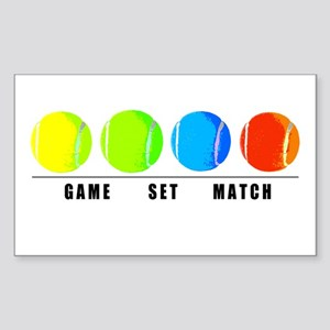 GAME SET MATCH Rectangle Sticker