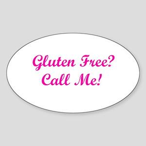 Gluten Free? Call Me! Oval Sticker