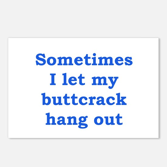 Buttcrack 1 Postcards (Package of 8)