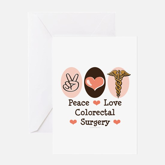 Peace Love Colorectal Surgery Greeting Card
