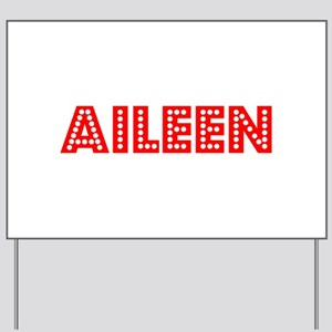 Retro Aileen (Red) Yard Sign