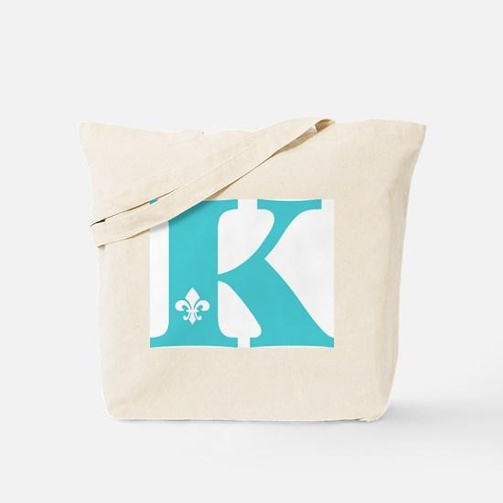 K Fleur Initial Tote Bag