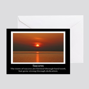 Success Sunset Motivational Greeting Card