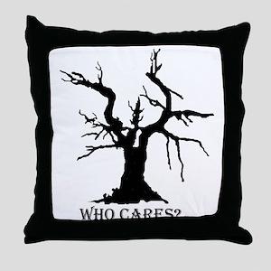 Black Tree Throw Pillow