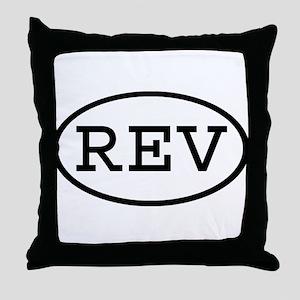 REV Oval Throw Pillow
