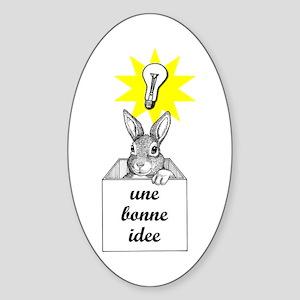Bunny Day Oval Sticker