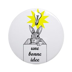 Bunny Day Ornament (Round)