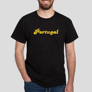 Retro Portugal (Gold) Dark T-Shirt
