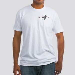 Patriotic Pit Bull Design Fitted T-Shirt