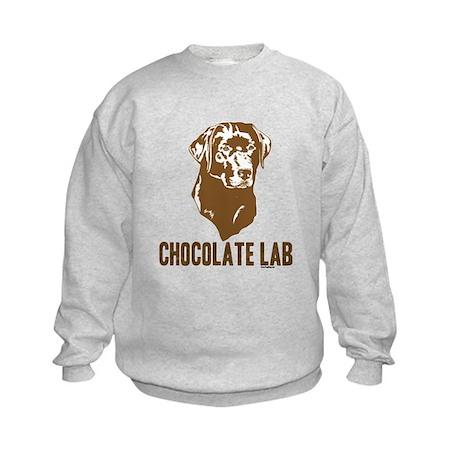 Chocolate Lab Kids Sweatshirt