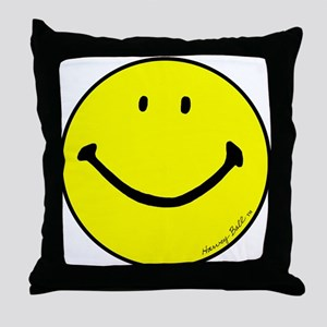 """Signature Smiley"" Throw Pillow"