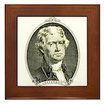 President Jefferson Framed Tile