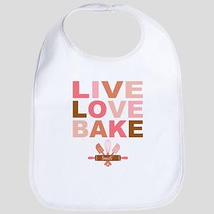 Live Love Bake Baby Bib