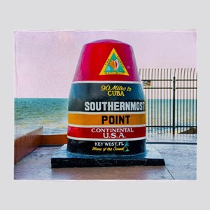 Southernmost Point Key West Florida Throw Blanket