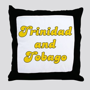 Retro Trinidad and.. (Gold) Throw Pillow