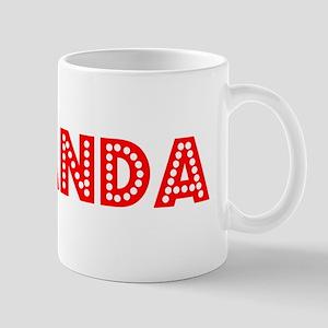 Retro Amanda (Red) Mug