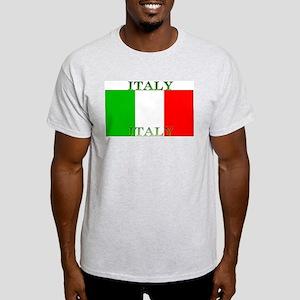 Italy Italian Flag Ash Grey T-Shirt