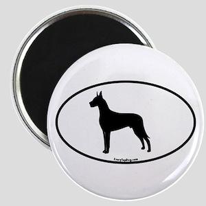 Great Dane Silhouette Magnet