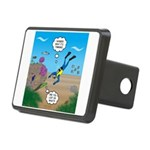 SCUBA Diver and Moray Eel Rectangular Hitch Cover
