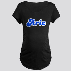 Retro Aric (Blue) Maternity Dark T-Shirt