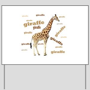 Giraffe Yard Sign