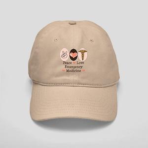Peace Love ER Doctor Cap
