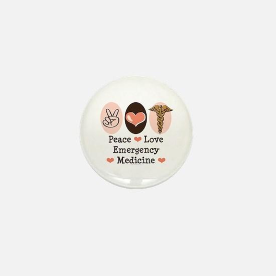 Peace Love ER Doctor Mini Button