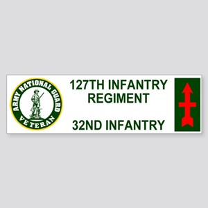 127th Infantry <BR>Veteran Bumper Sticker