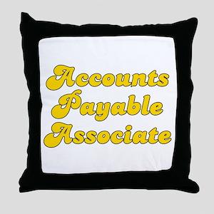 Retro Accounts Pa.. (Gold) Throw Pillow