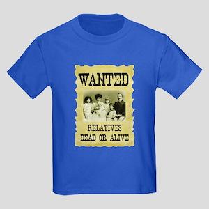 Wanted Poster Kids Dark T-Shirt