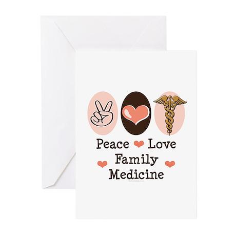Peace Love Family Medicine Greeting Cards 10 Pk