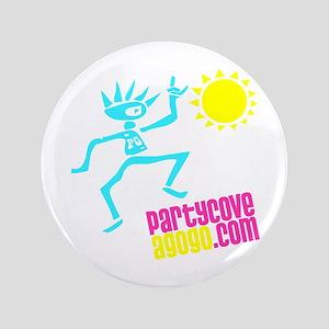 """Party Cove AGoGo Logo1 3.5"""" Button"""