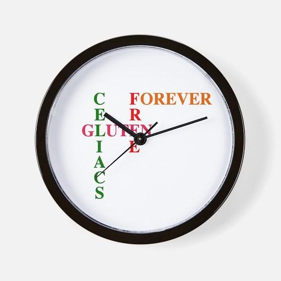 Celiacs Gluten Free Forever Wall Clock