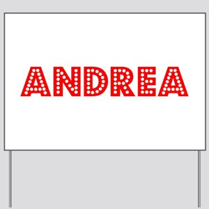 Retro Andrea (Red) Yard Sign