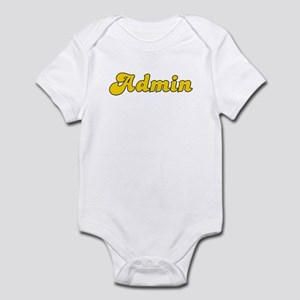 Retro Admin (Gold) Infant Bodysuit