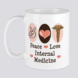 Peace Love Internal Medicine Mug