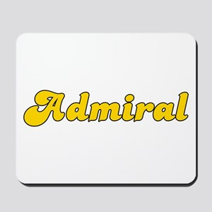 Retro Admiral (Gold) Mousepad