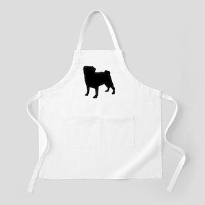 Pug Silhouette BBQ Apron