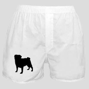 Pug Silhouette Boxer Shorts