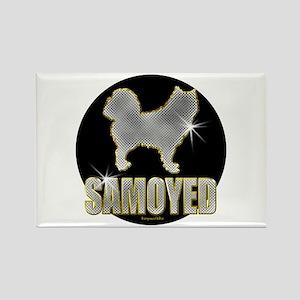 Bling Samoyed Rectangle Magnet (10 pack)