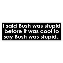 I said Bush was stupid (bumper sticker)