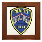 Rialto Police Framed Tile