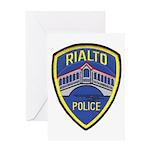 Rialto Police Greeting Card