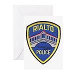 Rialto Police Greeting Cards (Pk of 20)