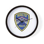 Rialto Police Wall Clock