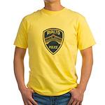 Rialto Police Yellow T-Shirt