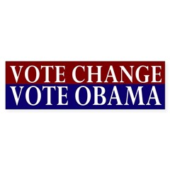 Vote Change Vote Obama car sticker